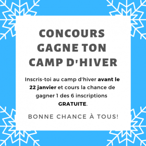 Concours Gagne ton camp d'hiver