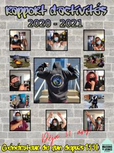 Page couverture Rapport d'activités 2020-2021